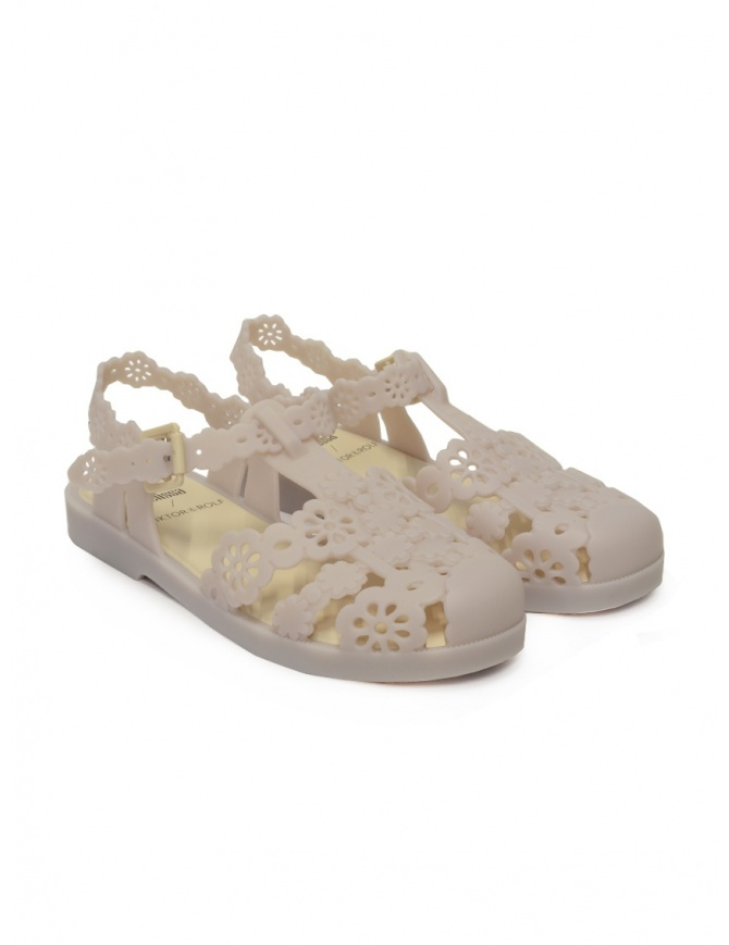 Melissa + Viktor & Rolf Possession Lace beige sandals 32987 01973 BEIGE womens shoes online shopping