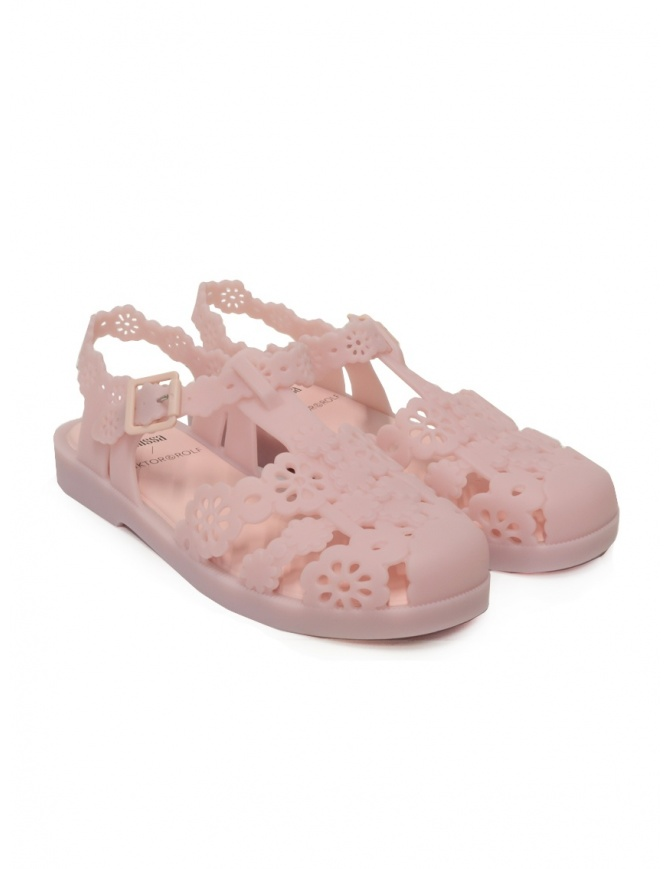 Melissa + Viktor & Rolf Possession Lace pink sandals 32987 01956 PINK womens shoes online shopping