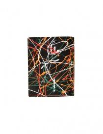 Guidi portafoglio PT3 nero dripping online