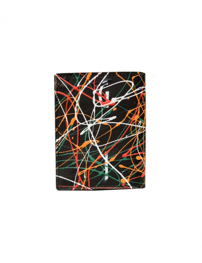 Guidi dripping black wallet PT3 KANGAROO DRPBLK wallets online shopping