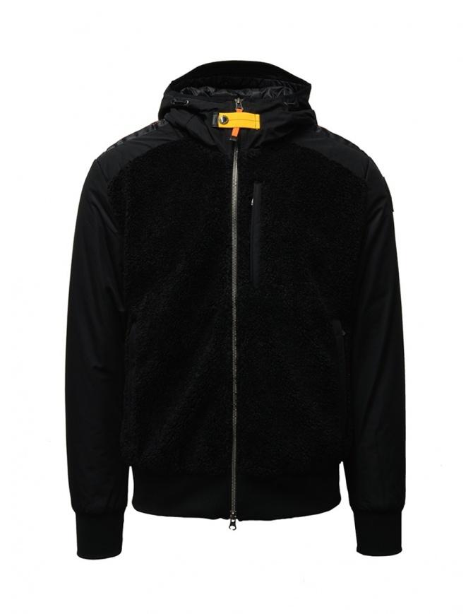 Parajumpers Rhino black bomber jaket with hood PMFLEPF02 RHINO BLACK 541 mens jackets online shopping