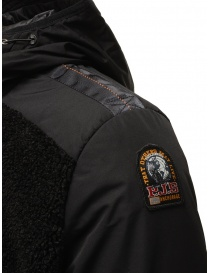 Parajumpers Rhino black bomber jaket with hood mens jackets buy online