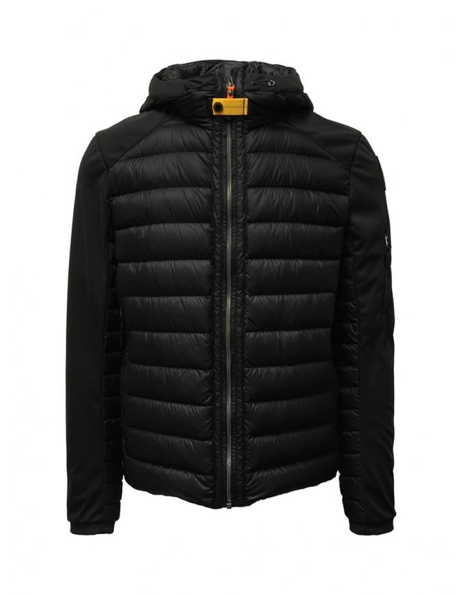 Parajumpers Kinari nero maniche in tessuto PMJCKKU02 KINARI BLACK 541 giubbini uomo online shopping