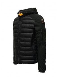 Parajumpers Kinari black jacket with fabric sleeves