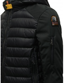 Parajumpers Kinari black jacket with fabric sleeves mens jackets buy online