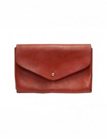 Guidi portafoglio a bustina in pelle di cavallo rossa online