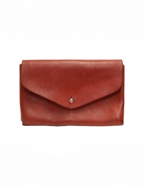 Guidi red horse leather envelope wallet online