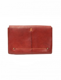 Guidi red horse leather envelope wallet