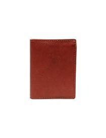 Portafogli online: Guidi portafoglio PT3 in pelle di canguro rossa
