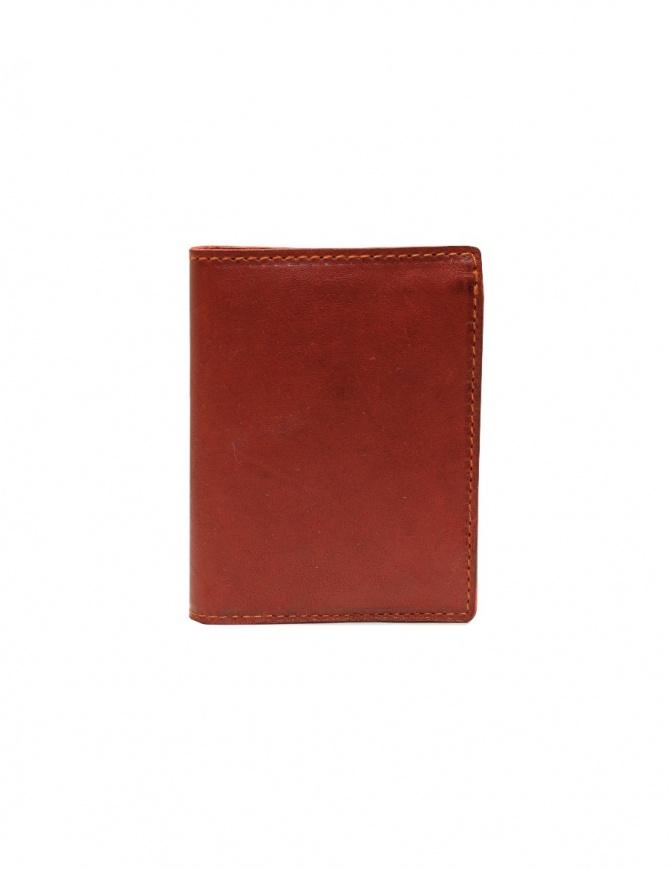 Guidi PT3 wallet in red kangaroo leather PT3 KANGAROO FULL GRAIN 1006T wallets online shopping