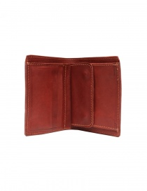 Guidi PT3 wallet in red kangaroo leather wallets buy online