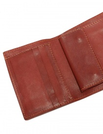 Guidi PT3 wallet in red kangaroo leather