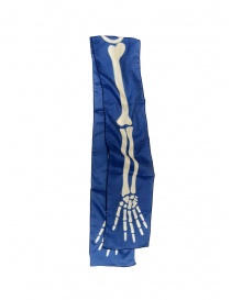 Kapital blue scarf with skeleton print online