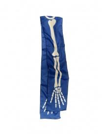 Kapital sciarpa blu con stampa scheletro online