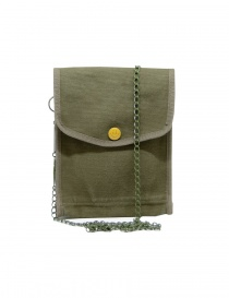 Kapital borsello khaki con bottone a smile online