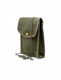 Kapital khaki bag with smile button