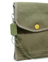 Kapital khaki bag with smile button K2004XB536 KHA buy online