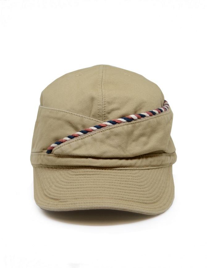 Kapital berretto beige con cordino K2004XH528 BE cappelli online shopping