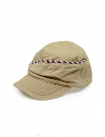 Kapital beige cap with string