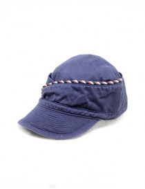 Kapital navy blue cap with string