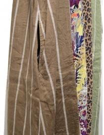 Kapital long sleeveless dress in mixed brown pattern womens dresses buy online