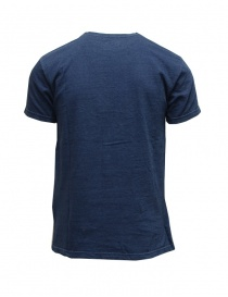 Kapital indigo blue t-shirt with smile and Mount Fuji print