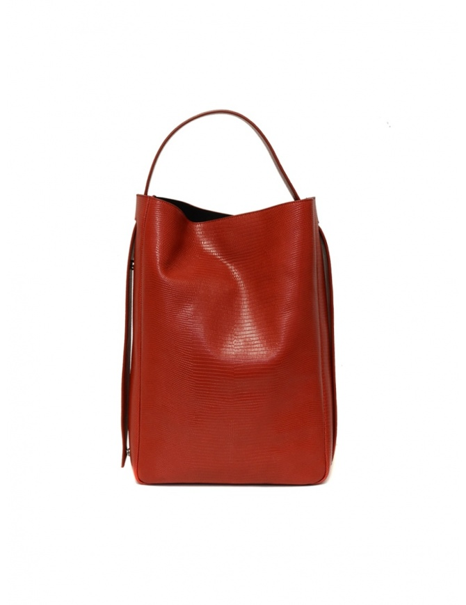 D'Ottavio E47 red rectangular bag with lizard print E47TS300 bags online shopping