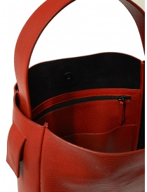 D'Ottavio E47 red rectangular bag with lizard print buy online