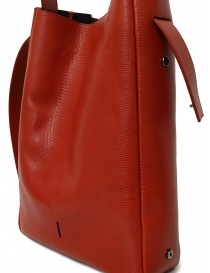 D'Ottavio E47 red rectangular bag with lizard print buy online price