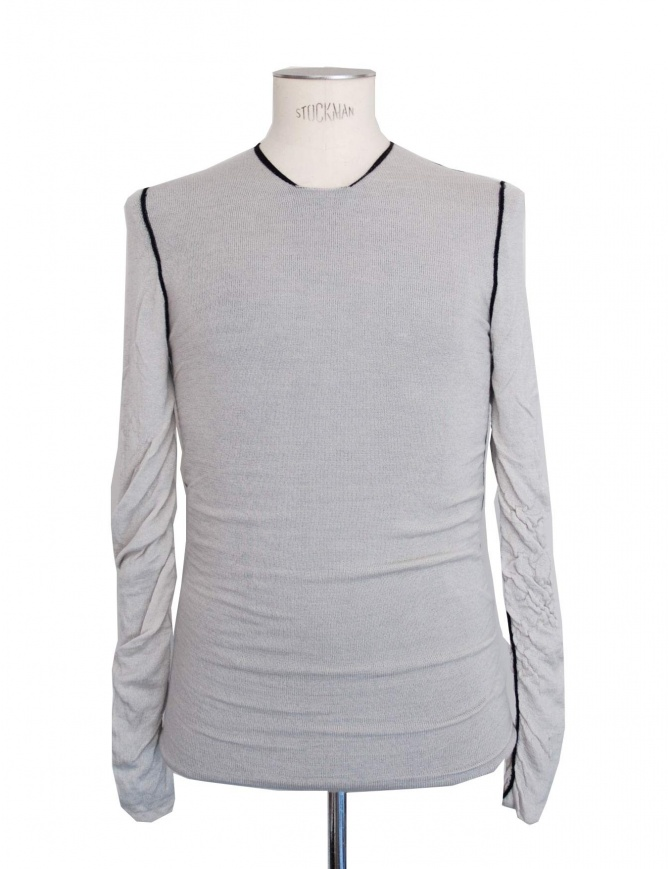Label Under Construction double face grey-black sweater 20YMSW26 WS23 20/93 mens knitwear online shopping