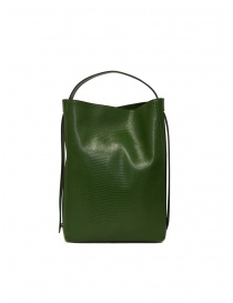 D'Ottavio E47 borsa verde rettangolare stampa lucertola borse prezzo