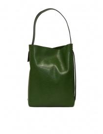 D'Ottavio E47 borsa verde rettangolare stampa lucertola prezzo