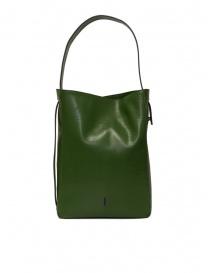 D'Ottavio E47 borsa verde rettangolare stampa lucertola borse acquista online