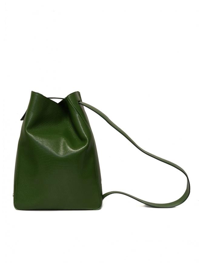 D'Ottavio E47 borsa verde rettangolare stampa lucertola E47TS502 borse online shopping