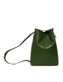 D'Ottavio E47 borsa verde rettangolare stampa lucertola acquista online prezzo