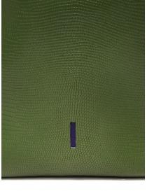 D'Ottavio E47 borsa verde rettangolare stampa lucertola