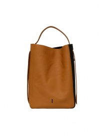 Bags online: D'Ottavio E47 vertical caramel bag with black side band