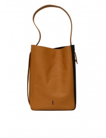 D'Ottavio E47 vertical caramel bag with black side band bags price