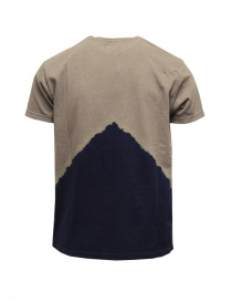 Kapital khaki t-shirt with blue Mount Fuji and climber