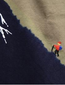 Kapital t-shirt kaki con Monte Fuji blu e scalatore t shirt uomo acquista online