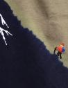 Kapital t-shirt kaki con Monte Fuji blu e scalatore EK-942 SUM acquista online