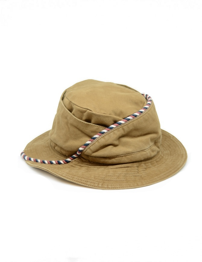 Kapital beige fisherman hat with string K2004XH527 CAM hats and caps online shopping