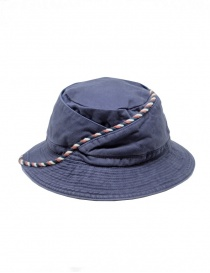 Kapital blue fisherman hat with string online