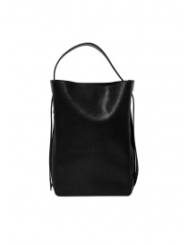 Bags online: D'Ottavio E47 black rectangular bag with lizard effect