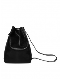 D'Ottavio E47 black rectangular bag with lizard effect