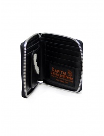 Kapital black leather wallet with hand skeleton price
