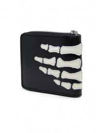 Kapital black leather wallet with hand skeleton wallets price