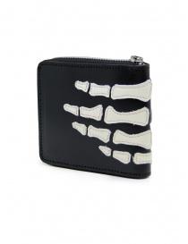 Kapital portafoglio in pelle nera con scheletro mano portafogli prezzo
