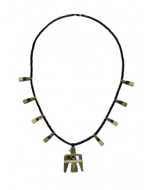 Jewels online: Kapital necklace with birds in green natural stone