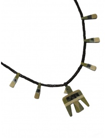Kapital necklace with birds in green natural stone price